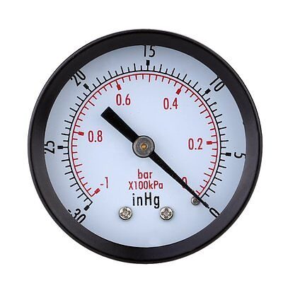 FK Pressure Gauge - 0 ~ -30inHg 0 ~ -1 bar Mini Dial Air vacuum pressure gauge p