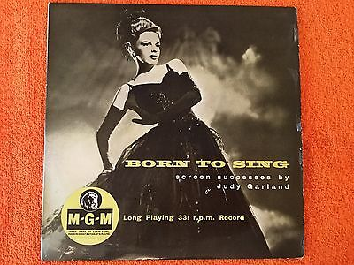 "JUDY GARLAND - Born To Sing - 10"" Vinyl LP Record in Excellent Condition"