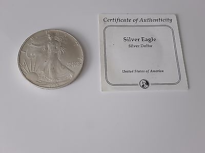 U S A - Dated 1995 Silver Eagle $1 Dollar Coin