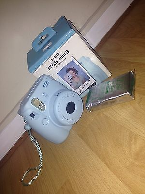 instax mini 8 fujifilm instant camera blue with 18 films