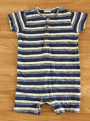 Next Blue And White Stripe Summer Romper All In One Playsuit 12-18 Months