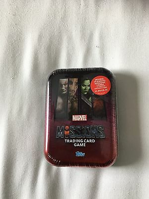 Marvel Missions Trading Card Tin + Limited Addition Brand New Sealed Free Post