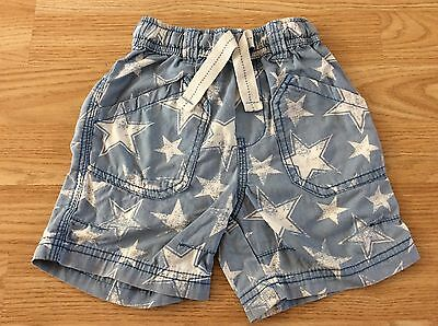 Next Boys Blue And White Star Shorts 18-24 Months 1.5-2 Years