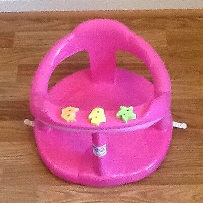 Pink Aquababy Aqua Baby Infant Safety First Bath Seat Chair Toys Attached