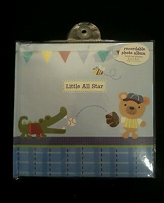 CR Gibson Little All Star Baby Boy Recordable Keepsake Book Photo Album New