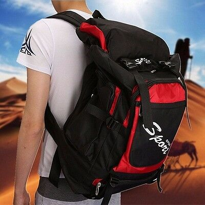 60L Large Outdoor Backpack Rucksack Bag CAMPING TRAVEL HIKING Mountaineering Bag