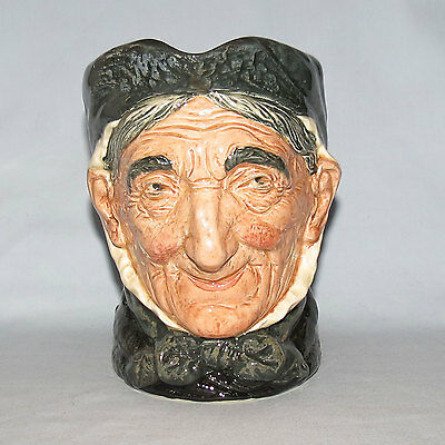 old RARE ROYAL DOULTON TOOTHLESS GRANNY LARGE SIZE CHARACTER JUG D5521