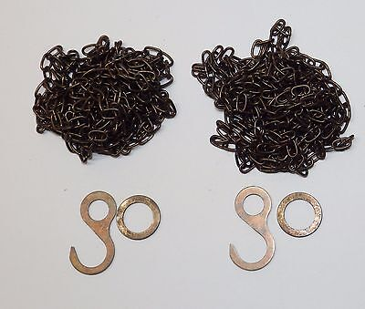 Cuckoo Clock Chain SET OF 2 ANTIQUE FINISH Fits Regula 25 35 70 NEW 61 Links/ft