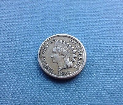 USA 1862 One Cent Coin