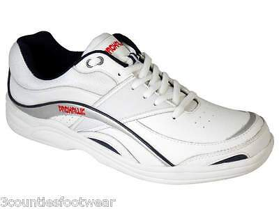 Lawn Bowls Shoes - Prohawk Professional Removeable Insole - White Leather