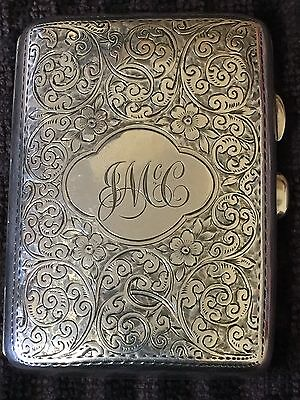 Superb Victorian Sterling Silver Cigarette Case-1901,Chester