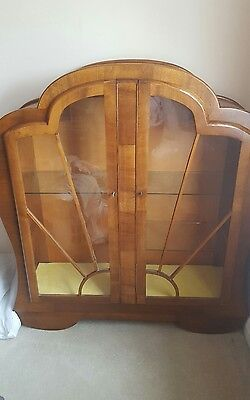 antique art deco display case/cabinet