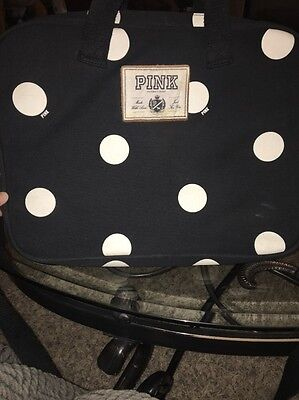Victoria's Secret PINK Black with Dots Laptop Computer Carry On Bag Case