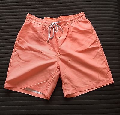 New -Men's Orange Size M Swim Shorts