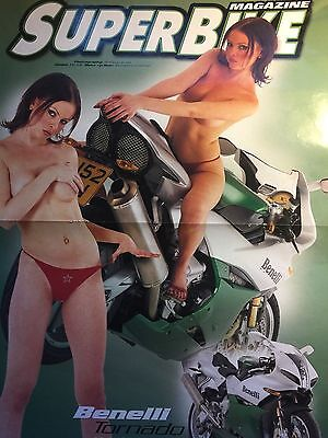 Benelli Tornado Double Sided A3 Motorcycle Poster / Centrefold