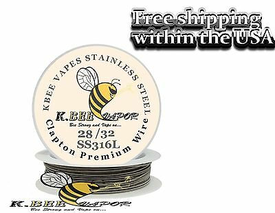 15ft of ss316l clapton coil wire 28/32 Gauge stainless steel wire