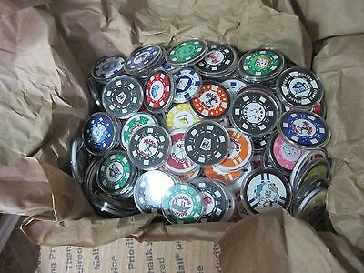 Poker Chips Huge Lot Lucky Charm Card Guard Harley Cartoons Sports Usa Red Neck