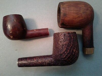 Lot of 3 Vintage Tobacco Estate Pipe Bowls With Issues