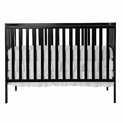 Dream On Me Synergy5 in 1 Convertible Crib, Black