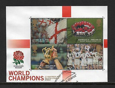 2003 Rugby World Cup Mini Sheet MS2416 Fine Used(Ex FDC) Cat £14.00 As Scanned