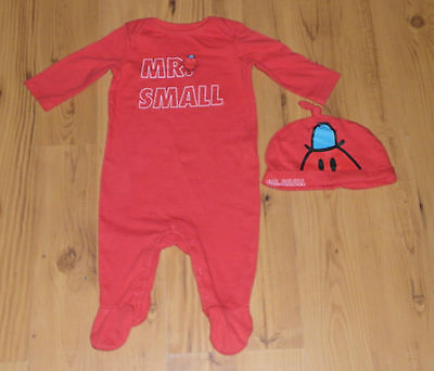 Gorgeous Mr.Small/ Mr.Men Sleepsuit & Matching Hat Aged 3-6 Months
