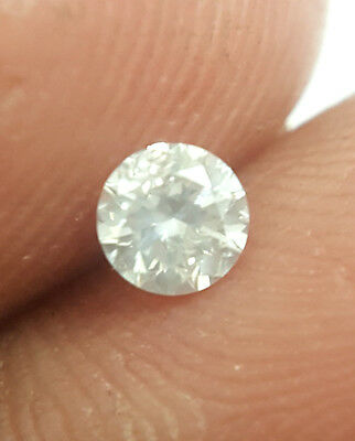 0.20TCW 3.8 MM G / H White color SI1 Round Brilliant cut Natural Loose Diamond