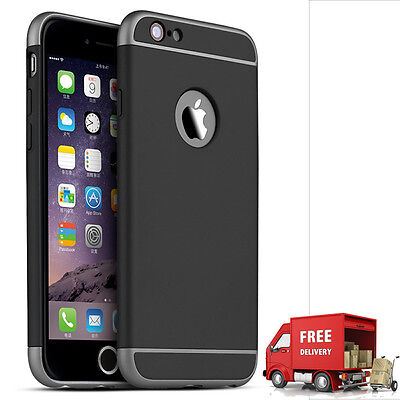 Luxury Ultra-thin Shockproof Back Case Cover for Apple iPhone 6/6s BLACK(89