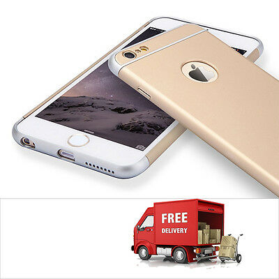 Luxury Ultra-thin Shockproof Back Case Cover for Apple iPhone 6/6s Gold(76
