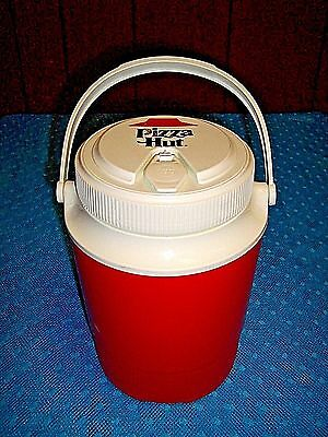 "Vintage ""Pizza Hut"" promo Gott 1/2 gallon beverage cooler jug - EUC - LQQK"