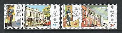 Isle Of Man Mnh 1990 Sg438-441 Europa - Post Office Buildings