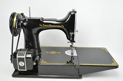 Singer Featherweight 221-1 Sewing Machine w/ Case, Pedal and Power Cord