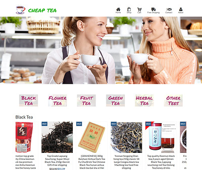 Dropshipping Tea eCommerce Website Business Ready to Go with HUGE Potential