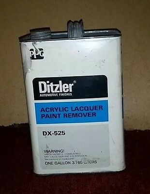 Vtg DITZLER Automotive Finishes Acrylic Lacquer Paint Remover (DX-525) 1 Gal Tin