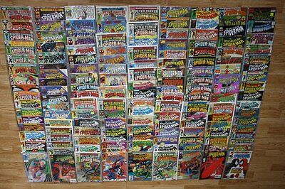 147 comics of Peter Parker The Spectacular Spiderman (including number 1)