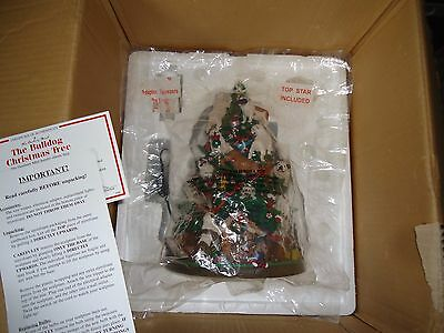 Danbury Mint Lighted Bulldog Christmas Tree Sculpture + Free Bonus!!