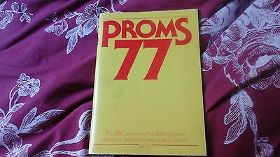 Proms 77   - Henry Wood Promenade Concerts  Handbook  1977 @ Royal Albert Hall