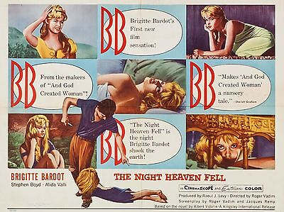 """The Night Heaven Fell 16"""" x 12"""" Reproduction Movie Poster Photograph"""