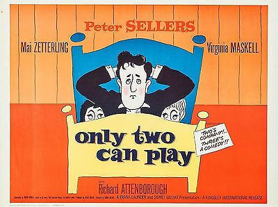 "Only Two Can Play 16"" x 12"" Reproduction Movie Poster Photograph"