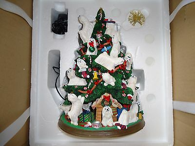 Danbury Mint Maltese Christmas Tree Sculpture