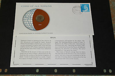 Spain Coins Of All Nations 1966 1 Peseta Coin Unc