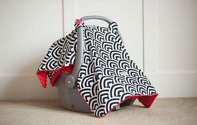 Carseat Canopy 100% Cotton Infant Car Seat Canopy Cover, Solomon, NEW