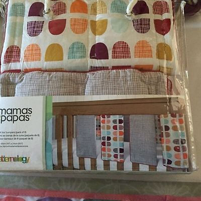 Mamas And Papas Cot Bar Bumpers set Pack of 8  Patternology £36