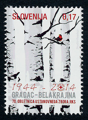 Slovenia new Issue MNH Red Cross, Trees