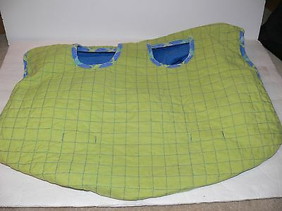 Infant Baby Revisible shopping cart cover Blue & Green kh