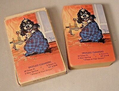 Brown & Bigelow Artist Signed Playing Cards