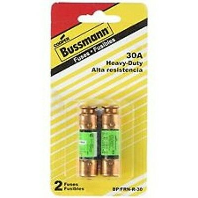 2 Pack Cooper Bussmann 30A Heavy Duty Fuses BP FRN-R-30 250vac Cartridge Fuses