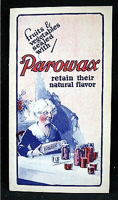 Old Standard Oil Co Parowax Adv Sales Brochure Chicago Il Old Store Stock