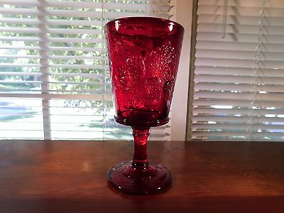 Strawberry and Currant Ruby Water Goblet by L.G. Wright Glass