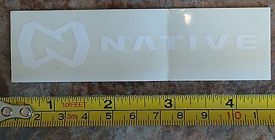 "5"" Native Eyewear Sticker White Decal Sunglasses Goggles Snowboard Skate Surf Bl"