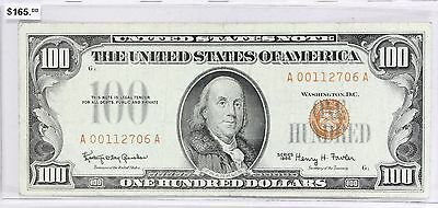 Series of 1966 Red Seal $100 Bill United States Note No Tears or Holes